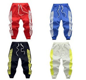 Wholesale 2019 Spring three bar brace stripe children sports pants boy girl pants 4 color Casual sport trousers For Birthday Gifts C22