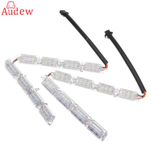 Wholesale 2Pcs Car LED LED bar DRL Car Styling strip Daytime Running Light Turn Signal Light Flowing yellow White steady
