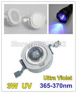 Wholesale 50 UV W LED Bead Ultra Violet Emitter Diode Chip High Power nm UV Detector Purple LEDs nm nm
