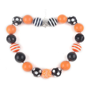 Wholesale Hottest Chunky Beaded Kids Halloween Necklace Party Favor Girls Bubblegum Necklace Best GIFT Toddler Infant Jewelry