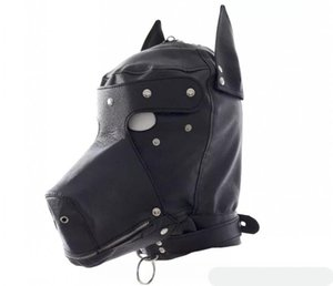 Wholesale Sex Fetish role play Dog slave head Hood hoods Head bondage fully enclosed fun headgear masks sex game BDSM game for couples