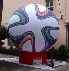 Wholesale promotional cheap price Inflatable large football helium balloon giant inflatable balloon football for trade show