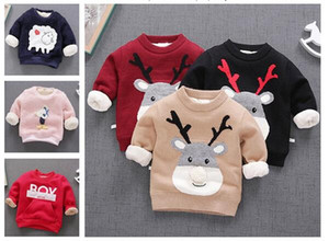 Wholesale SPRING winter children Sweater round neck Korean long sleeve mixed color suit for T girl and boy clothes free ship