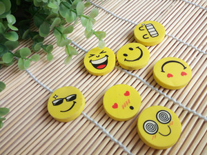 Wholesale Smiling face erasers lovely emoji rubbers Creative Stationery Business promotion supplies DL_CR013
