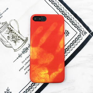 Wholesale Thermosensitive Color Change Case Magical PU Fingerprint Back Cover Temperature Sensing Thermal Sensor Heat Shell For Iphone s plus plus