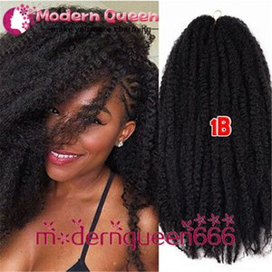 Wholesale quot Long B j bug Factory Direct Kanekalon Afro Twist Kinky Marley Twist Hair Extension