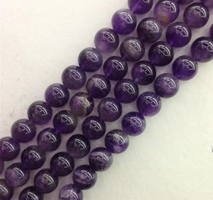 6 Sizes Loose Round Glass Beads Amethyst Beads for Bracelet Necklace Bracelet jewelry Making