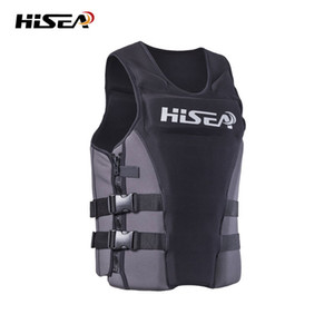 2020 Wholesale- Men Life Vest Adult Women's Vest Grey Neoprene Vest for Surfing Fishing Swimming Drifting