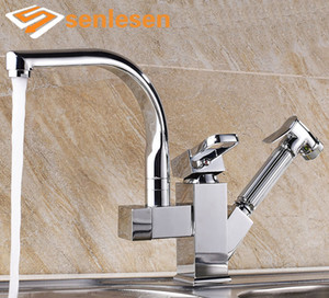 Wholesale Factory Direct Sale Kitchen Faucet Chrome Finish Deck Mounted with Pull Out Sprayer