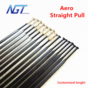 24 Pcs lot Pillar PSR Aero 1432 Spokes Straight Pull T302 Stainless Steel Black Spokes With Free Nipples on Sale