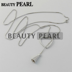 Wholesale silver jewellery boxes for sale - Group buy Bulk of Pieces Sterling Silver Box Chain Heart Pendant Mounting Necklace Jewellery Necklace Blanks for Pearls