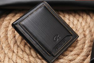 Wholesale Top quality New style mens brand designer leather luxury purse wallet short cross high quality wallets for men