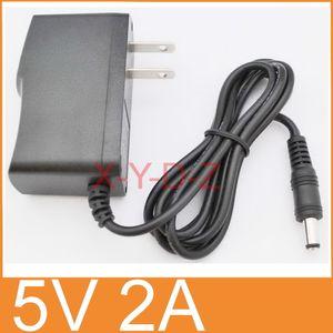 50PCS AC 100V-240V Converter Adapter DC 5V 2A   2000mA Power Supply US plug + DHL Free shipping