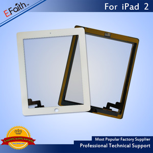 Wholesale For iPad 2 White Touch Screen Digitizer Replacement with Home Button+ Adhesive & Free DHL shipping
