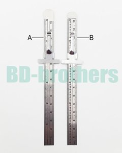 Wholesale 15cm Stainless Steel Straight Ruler Metal Graduated Scale Depth Gauges CM Inch Double Sided Repair Rule Measuring Tool