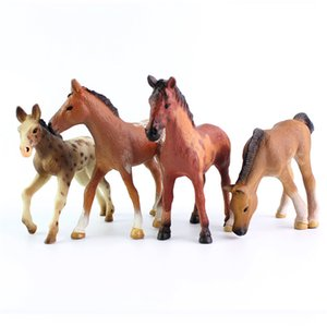 4 style horse solid pvc figure toys mini imitation animal model toys 4.5-12cm for hildren's Day gifts on Sale