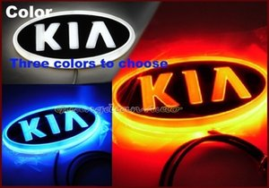 Wholesale Night Lord Car Emblem Rear Badge Sticker light LED light D logo light Emblems led For KIA