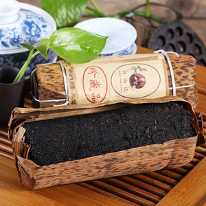 200g Chinese Organic Black Tea Anhua Compressed Dark Tea New Cooked Tea Healthy Green Food Preferred