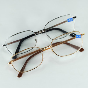 Wholesale 2017 Cheap Full Metal Rim Standard Olders Reading Glasses With Power Lenses Golden And Silver Colors Frame