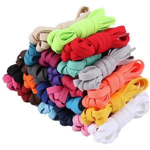 Wholesale New Flat Shoelaces Dress Canvas Shoe Lace Sneaker Boots Shoe Laces Unisex Strings Shoelace Colors