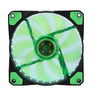 Wholesale LED Silent Fans Radiating Heatsink Cooler Cooling Fan For Computer PC Heat sink mm fan Lights V Luminous Pin Pin Plug