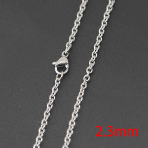 "10pcs super lowest price Silver Jewelry Stainless Steel 18"" 20"" 24"" 30"" 2.3mm necklace Chains for living glass lockets & Diffuser oil Locket"