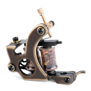 Wholesale Handmade 12 Wraps Shader Liner Tattoo Copper Coils Tattoo Machine Permanent makeup for Machine free shopping