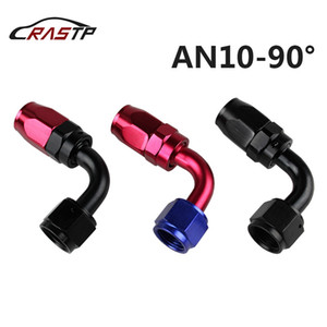RASTP -AN10-90 Anoized Aluminum 90 Degree Oil Fuel Swivel Fitting Fuel Hose End Male Adaptor Oil Cooler Fitting Oil Fuel Hose End