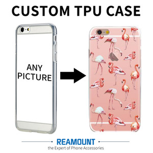 Wholesale New Style Custom Logo DIY Custom Art Print Case Custom made Cover Case for iphone plus for iphone Soft TPU Transparent Mobile Case
