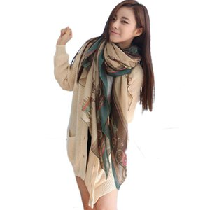 Wholesale Unique scarf Women Lady Girls Soft Long Carriage Scarf Large Wrap Shawl Scarves style shawls and scarves foulard femme