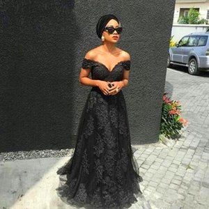Wholesale Plus size black Prom Dresses lace up corset Floor Length cape princess V neck modest formal Evening Dresses Gowns