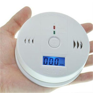 Wholesale CO Carbon Monoxide Detector Alarm System For Home Security Poisoning Smoke Gas Sensor Warning Alarms Tester with LCD Display