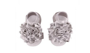 Wholesale Baby Sandals Infant Chiffon Flower Shoes Cover Barefoot foot Flower Ties Decoration Infant Children Girl Kids First Walker Shoes Photograph
