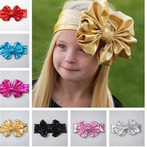 Wholesale Girls Bow Fashion for Children Hair Accessories Bow Baby Headbands Colors Korean Style Girls Headbands Bowknot Kids Accessories DHL