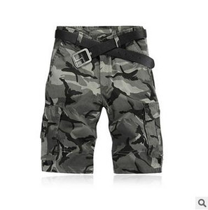 Europe US Men's Casual Camo Short Pants Fashion Brand Design Knee Length Loose Cargo Pants Good Quality Sportwear 4 Style