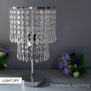 Wholesale led reading glasses resale online - Reading room foyer Tiffany glass crystal LED table lamp sitting room crystal table light room Bedroom Bedside crystal table lamp