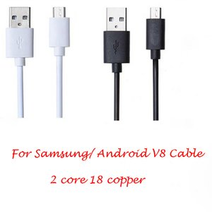 Wholesale Universal Cell Phone Cable For Samsung Android CM V8 Micro USB Fast Charger mini Cable core copper