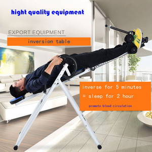 Wholesale Foldable Inversion Table Chiropractic Back Pain Relief Therapy Fitness Equipment Exercise Heavy Duty Lbs Load bearing