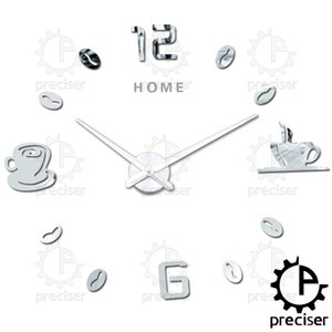 Wholesale Home Letters D Diy Wall Clock Arabic Digital Coffee Cups Self adhensive Stickers Kitchen Modern Big Clock