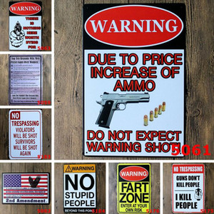 Wholesale 20 cm Bar Decor Metal Tin Sign Board Gun Metal Painting Humour Retro Poster Use to Party Bar Ktv House Decoration Several Colors