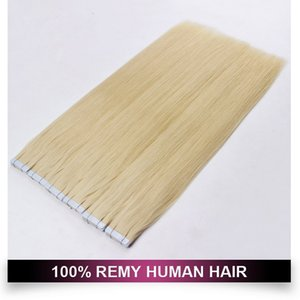 Wholesale 16 613 hair resale online - Blonde Tape In Human Hair Extensions g quot quot quot quot quot Double Sided Tape Skin Weft Hair Extensions