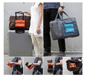 Wholesale wheel boys for sale - Group buy 4 Colors Foldable Nylon Suitcase Hand Luggage Cabin Small Wheeled Travel Folding Flight Bag Large Capacity Case Travel Insert Handbag ak056