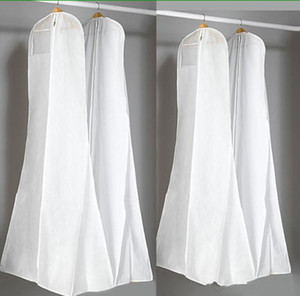 Wholesale Big 180cm Wedding Dress Gown Bags High Quality White Dust Bag Long Garment Cover Travel Storage Dust Covers Hot Sale