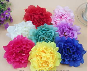 Wholesale Dia cm Big Artificial Silk Peony Flower Heads DIY Decorative Flowers Wedding Dance Costume Backdrop Wall Decoration G14