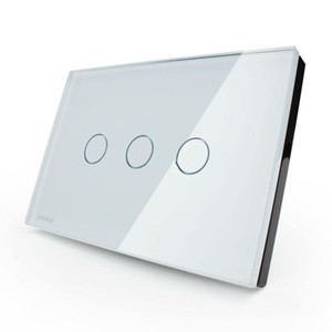 Wholesale LIVOLO Switches US AU standard VL-C303DR-81 82 Crystal Glass Panel Digital Touch Screen Dimmer Remote Control Home Wall Light Switch+Remote
