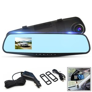 2.8 Inch 1080P HD Car DVR Vehicle Dual Lens Anti-glare Blue Mirror Video Driving Recorder on Sale