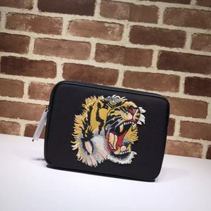 Wholesale 2017 new arrival Top quality canvas handbag tiger flower butterfly embroidery bag brand designer envelope bag chain clutch handbags