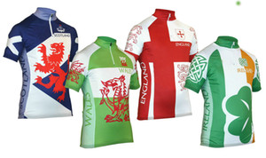 2021 National Scotland, Wales, Ireland & England jersey breathable cycling jerseys Short sleeve summer quick dry cloth MTB Ropa Ciclismo P7