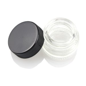 Wholesale Food Grade 5ml Non-Stick Glass Container Wax Dab Oil Jar 5ml Dabber Dry Herb Concentrate Container E cigs Cigarette DHL