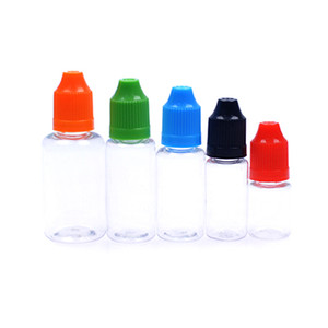 Wholesale 2017 new ml ml ml ml Empty E Liquid WAX oil Plastic Dropper Bottles with Child Proof Bottle caps Needle Tips